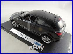 118 Welly #12563W 2005 Opel Astra GTC Noir Rare