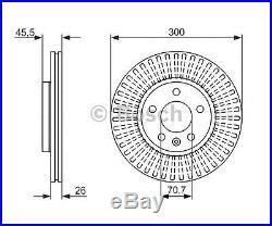 2 pièces Bosch Disque de frein 0986479c56