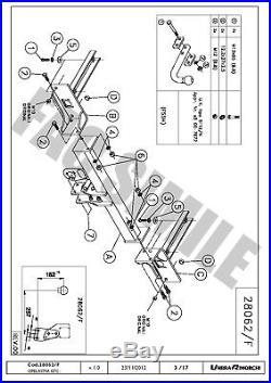 Attelage Col de Cygne 7 broches pour Opel Astra J GTC Hayon 11+ 28062/F B1