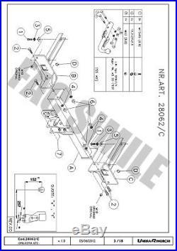 Attelage Démontable pour Opel Astra J GTC Hayon 3portes 11+ 28062/C A1