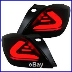 Cardna Lightbar LED Feux pour Opel Astra H GTC Année Fab. 05-10 Noir / Fumee