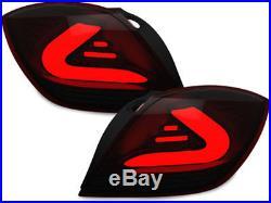 Carrere LEDs feux Opel Astra H GTC LED LIGHT BAR noire fumée rouge 4983495I XINO