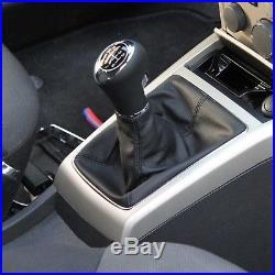 Cuir ICT pommeau levier vitesse Opel Astra H GTC no OPC LED fil bleu 6 vites D56
