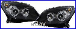 Fari Fanali Anteriori Interno Nero Angel Eyes Opel Astra H +gtc + Sw