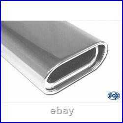 Fox Duplex Échappement Sport Chaque 135x80mm Pour Opel Astra H Et GTC 1.6l- 2.0l