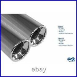 Fox Duplex Échappement Sport Chaque 2x76 MM Pour Opel Astra H Et GTC 1.6l- 2.0l