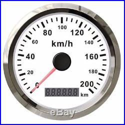 GPS 12V/24V Voiture Camion Imperméable Inoxydable Compteur Vitesse Jauge 200KM/H