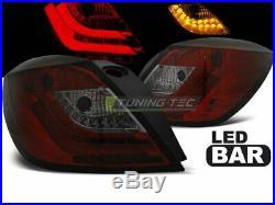 Hátsó lámpák az Opel ASTRA H 04-09 3D GTC piros füst LED-jéhez LDOP49EZ XINO FR