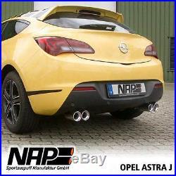 NAP échappement sport Opel Astra J GTC Acier inoxydable Duplex