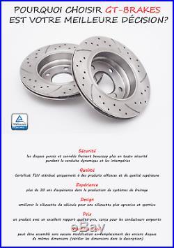 Opel Astra H Gtc 1.3 1.7 1.9 Cdti 05-10 Plaquettes Disques De Frein Gt1639 Ø280