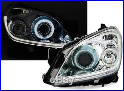 Phares Feux Avant Devil Eyes Chrome Ccfl Opel Astra H 2004-2009 Gtc 2.0 Opc 2.2