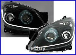 Phares Feux Avant Devil Eyes Noir Ccfl Opel Astra H 2004-2009 Gtc 2.0 Opc 2.2