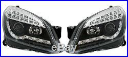 Phares Feux Avant Devil Eyes Noir Cristal Opel Astra H 2004-2009 Gtc 2.0 Opc 2.2
