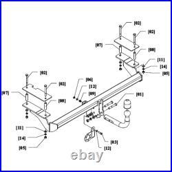 Pack Attelage pour Opel Astra H GTC 05- col de cygne et Faisceau uni 7 broches