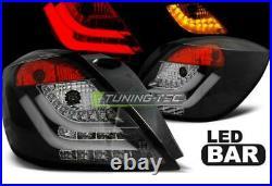 Paire de feux arriere Opel Astra H GTC 04-09 led Bar noir
