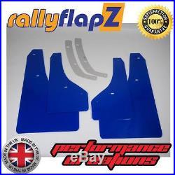 Pare-boues Style rallye pour OPEL ASTRA GTC VXR Bavette x 4 Bleu 3mm KAYLAN