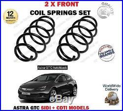 Pour Opel Astra GTC 1.6 SIDi 1.7 CDTI 2011- 2 x Ressorts hélicoïdaux avant SET