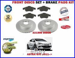 Pour Opel Astra GTC 2011- avant Disques Frein 321mm Ensemble + Pad Kit