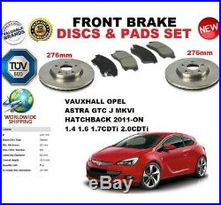 Pour Opel Astra J GTC Mkvi 2011- 276MM Ensemble Disques de Frein avant + Kit
