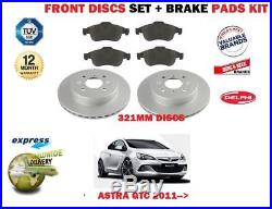Pour Opel Vauxhall Astra GTC 2011- DISQUES DE FREIN AVANT 321mm Set +