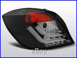 Stopuri pentru Opel Astra H GTC 04-09 3D negru cu LED-uri XLDOP51PL XINO TUNING